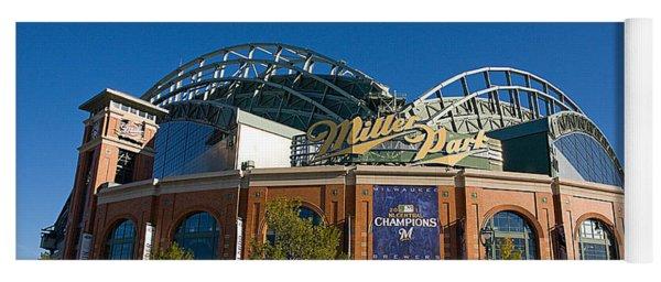0386 Miller Park Milwaukee Yoga Mat