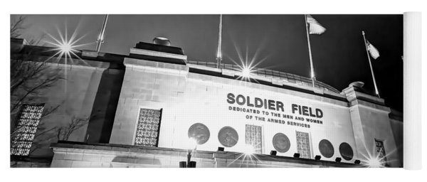 0879 Soldier Field Black And White Yoga Mat