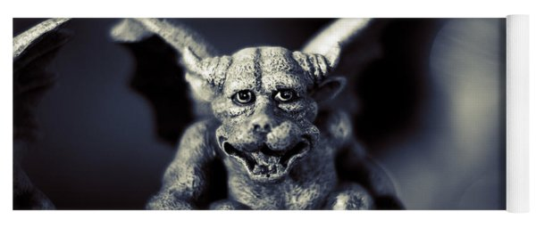 Evil Gargoyle Statue Yoga Mat