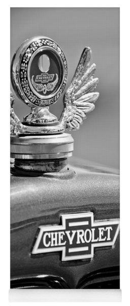 1928 Chevrolet Stake Bed Pickup Hood Ornament Yoga Mat