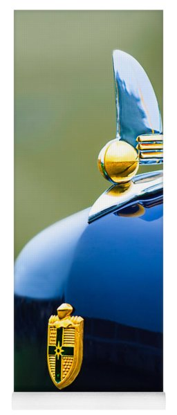 1942 Lincoln Continental Cabriolet Hood Ornament - Emblem Yoga Mat