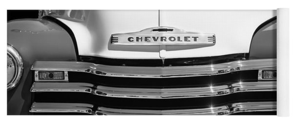 1952 Chevrolet Pickup Truck Grille Emblem Yoga Mat