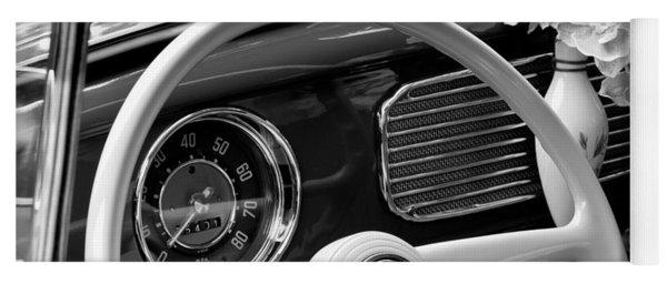 1952 Volkswagen Vw Bug Steering Wheel Yoga Mat