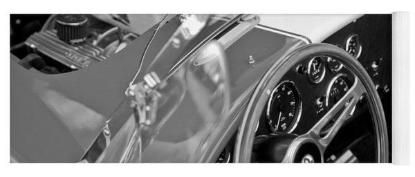 1955 Ac Cobra Steering Wheel And Engine Yoga Mat