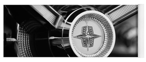 1956 Lincoln Continental Mark II Hess And Eisenhardt Convertible Steering Wheel Emblem Yoga Mat