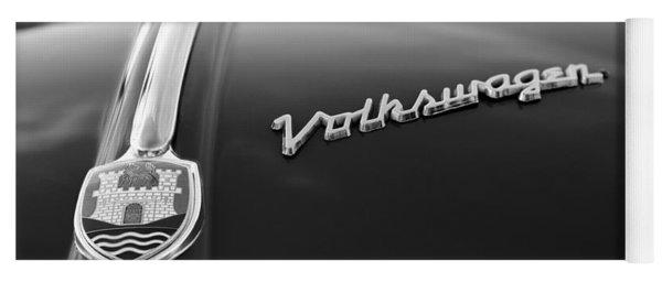 1956 Volkswagen Vw Bug Hood Emblem Yoga Mat