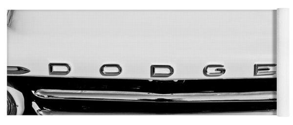 1958 Dodge Sweptside Truck Grille Yoga Mat