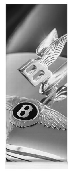 1961 Bentley S2 Continental  Hood Ornament - Emblem Yoga Mat