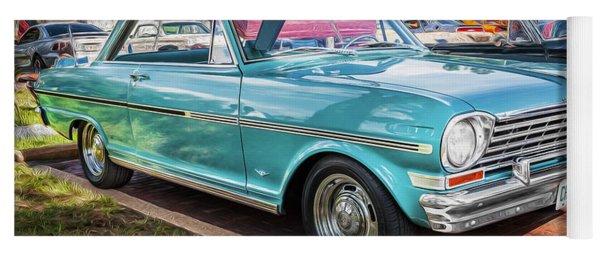 1963 Chevy II Nova Painted Bw  Yoga Mat