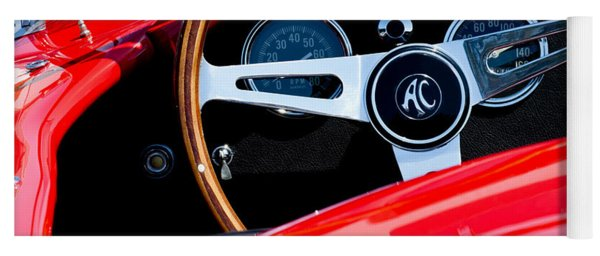 1965 Shelby Ac Cobra Roadster 289 Steering Wheel Emblem Yoga Mat