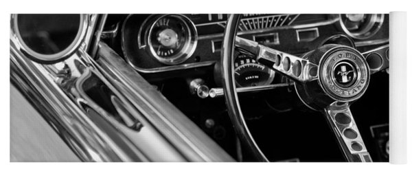 1965 Shelby Prototype Ford Mustang Steering Wheel Yoga Mat