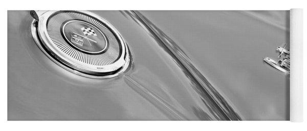 1966 Chevrolet Corvette Coupe Emblems Yoga Mat