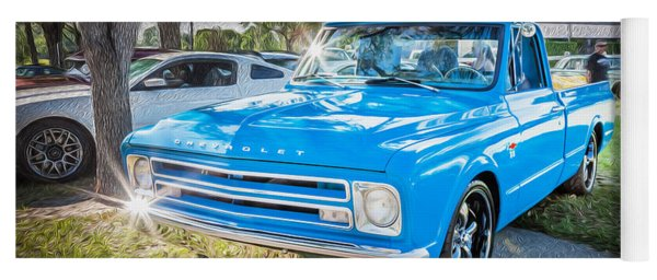 1967 Chevy Silverado Pick Up Truck Painted  Yoga Mat