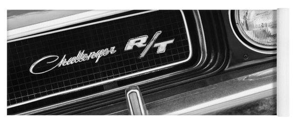 1970 Dodge Challenger Rt Convertible Grille Emblem Yoga Mat