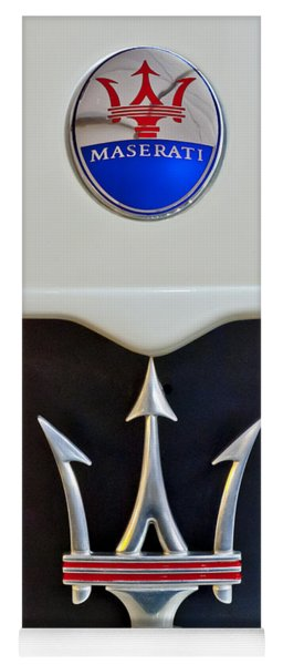 2005 Maserati Mc12 Hood Emblem Yoga Mat