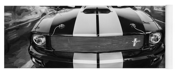 2007 Ford Mustang Shelby Gt Painted Bw   Yoga Mat
