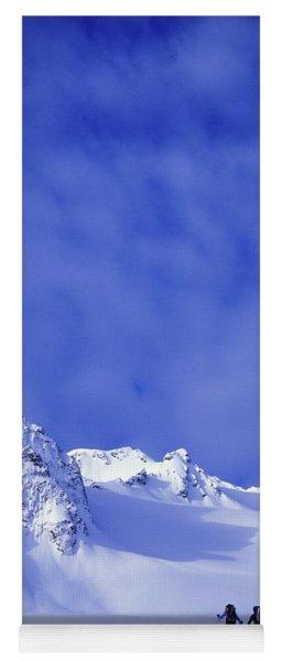 A Man And Woman Ski Tour And Explore Yoga Mat