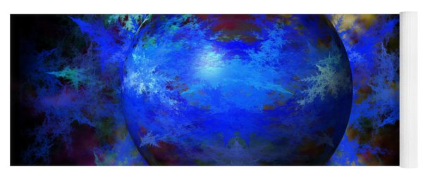 Abstract Blue Globe Yoga Mat