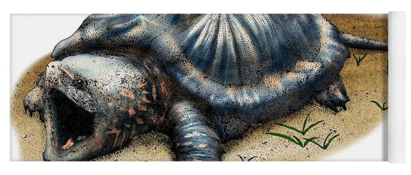 Alligator Snapping Turtle Yoga Mat