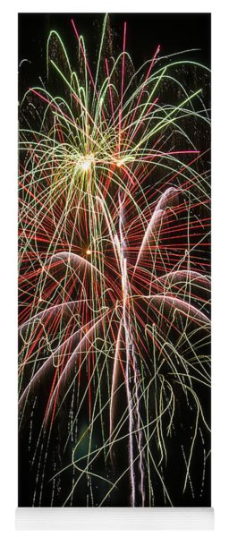 Amazing Fireworks Yoga Mat