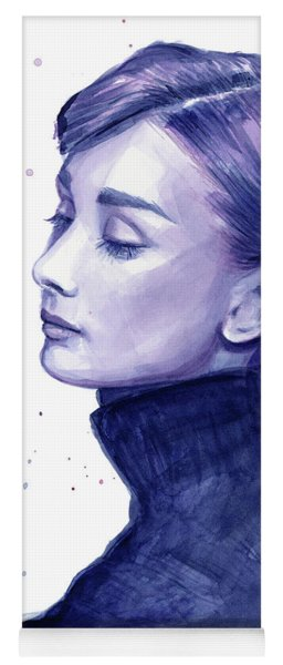 Audrey Hepburn Portrait Yoga Mat