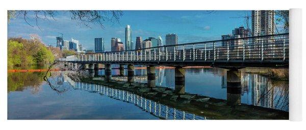 Austin Skyline And Lady Bird Lake - Yoga Mat