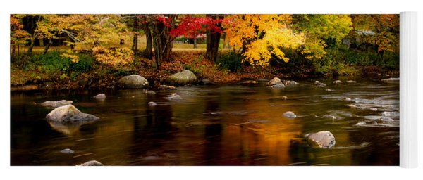 Autumn Colors Reflected Yoga Mat