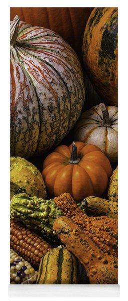 Beautiful Autumn Harvest Yoga Mat