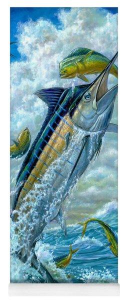 Big Jump Blue Marlin With Mahi Mahi Yoga Mat