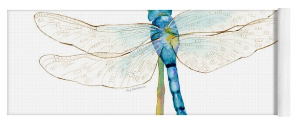 Blue Dragonfly Yoga Mat
