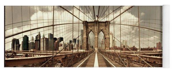 Brooklyn Bridge (sepia) Yoga Mat