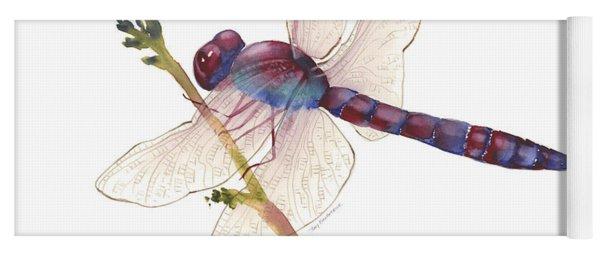 Burgundy Dragonfly  Yoga Mat
