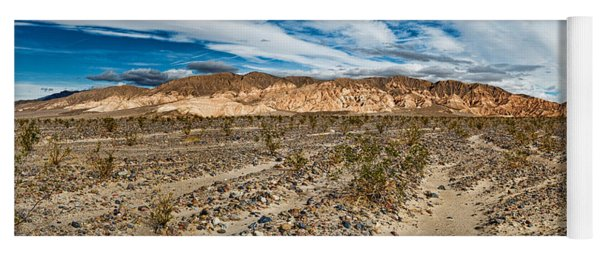 Bushes In A Desert, Death Valley, Death Yoga Mat