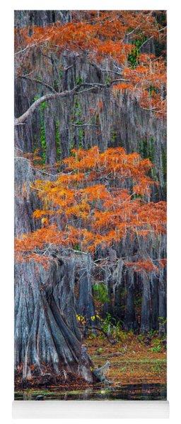 Caddo Lake Autumn Yoga Mat