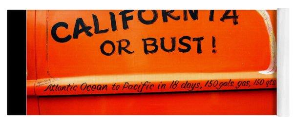 California Or Bust Yoga Mat