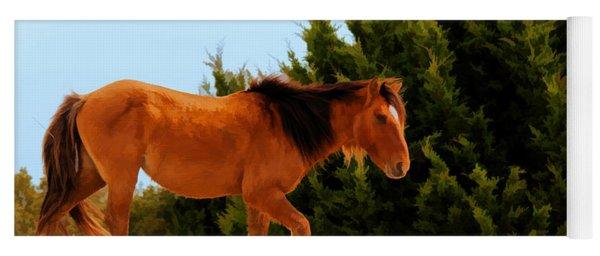 Carrot Island Pony Yoga Mat