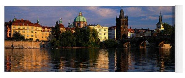 Charles Bridge Vltava River Prague Yoga Mat