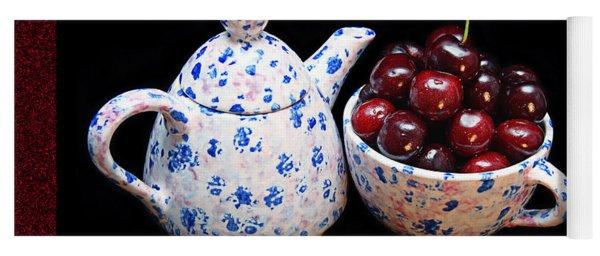 Cherries Invited To Tea 2 Yoga Mat