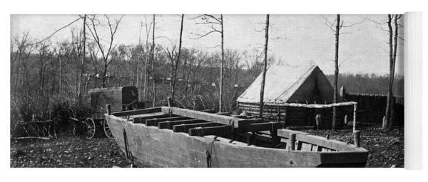 Civil War Pontoon Boat Yoga Mat
