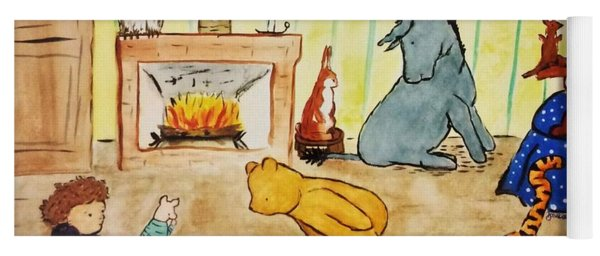 Classic Winnie The Pooh And Friends Yoga Mat