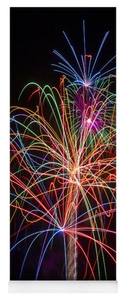 Colorful Fireworks Yoga Mat