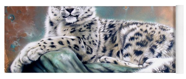 Copper Snow Leopard Yoga Mat