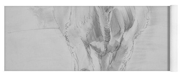 Cow Drawing Yoga Mat