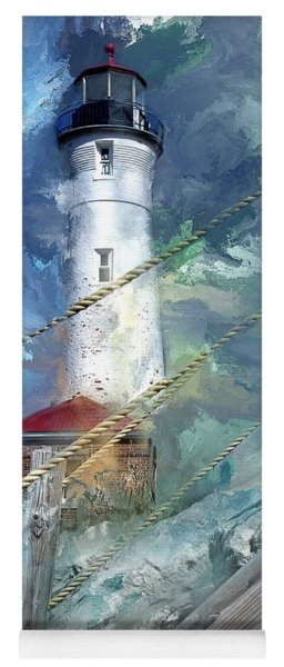 Crisp Point Lighthouse Michigan Yoga Mat