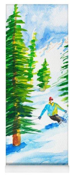 David Skiing The Trees  Yoga Mat