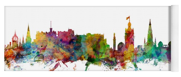 Edinburgh Scotland Skyline Yoga Mat