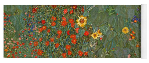 Farm Garden With Sunflowers Yoga Mat