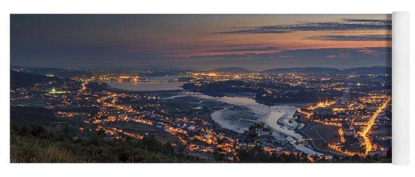 Ferrol's Ria Panorama From Mount Ancos Galicia Spain Yoga Mat