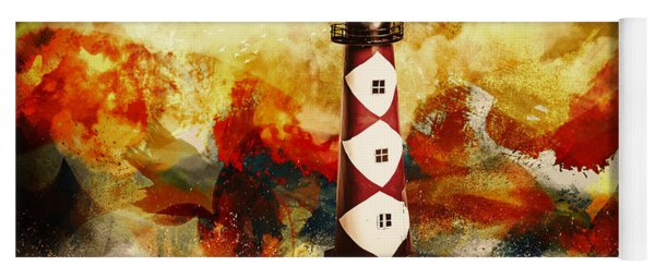 Fire On Lighthouse Hill Yoga Mat