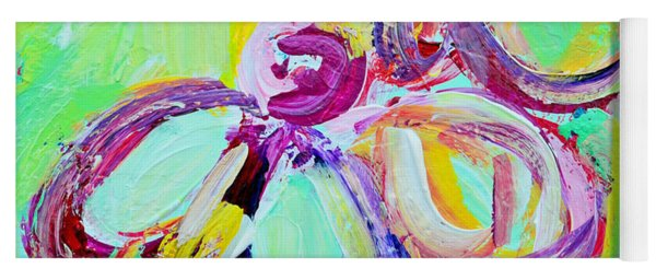 Abstract Flowers No 10 Yoga Mat